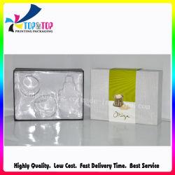 Imballaggio cosmetico organico di carta all'ingrosso piegante di figura dei prodotti dell'OEM