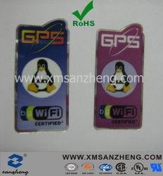 Logo GPS Silver PET autoadesivo lucido trasparente resistente agli strappi Etichette colorate