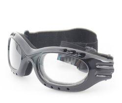Lentille transparente et les pattes noires Glassess protecteur avec la CE
