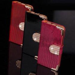 Boust glänzende Schlag-Luxuxmappe Bling lederne Fall-Abdeckung für Samsung I9300