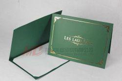 Titular do diploma de papel verde com quatro fendas de Corte -Estilo tenda