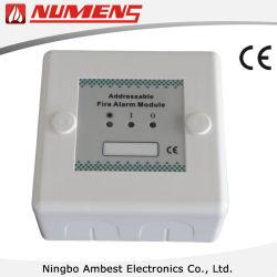 Fire DetectionおよびAlarmアドレス指定可能な2ワイヤーSystemの入力出力Module、24V
