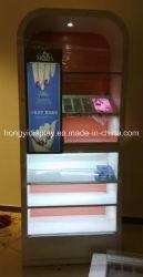 Cabinet d'affichage cosmétiques avec LED, trépied de sol