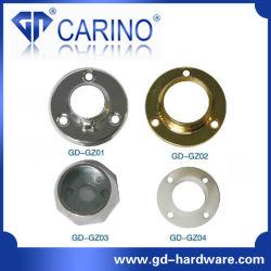 Closet Roupeiro Trilho do Tubo de Suporte do Flange Circular; ferro ou a placa da base do tubo de liga de zinco *Titular de ferro
