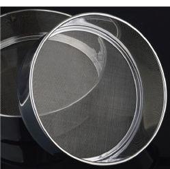منعلة الفولاذ المقاوم للصدأ مستديرة الغربال شبكي شمنير للسكر بالشعلة أداة تحضير الخبز بمسحوق شاكر EG14412
