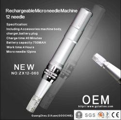 Dermapen recarregável Micro Máquina de terapia de caneta agulha 12 agulhas (ZX12-060)