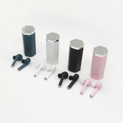 이어폰이 비용을 부과 상자 무선을%s 가진 헤드폰 이중 마이크를 취소하는 Bluetooth Tw50 이어폰 HiFi 입체 음향 베이스 소음에 의하여