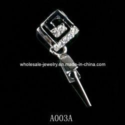 Fermoir Engravable Pendentifs en argent sterling, Mode bijoux (A003A)