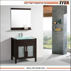 Деревянные ванной комнате установлен/душ/ванная комната с одним репродукциями в левом противосолнечном козырьке
