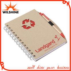 Reciclados quente personalizado em espiral de venda escola de papel para Notebook promoção (BNI101)