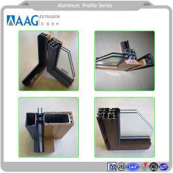 Tubo de aluminio persiana plana y el ángulo de las piezas de aluminio y sistema de puertas y ventanas de aluminio con perfil de aluminio para muro cortina