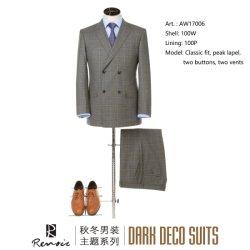 OEM 2 Кусок шерсти классический установите мужской костюм для бизнеса