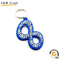 Nombre en PVC souple Design personnalisé pour la vente de chaîne de clé YM1119