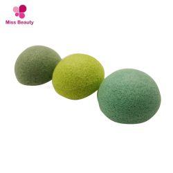 Venda por grosso de Chá Verde Orgânico Esponjas de limpeza Facial de Konjac Natural