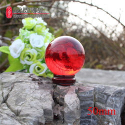 Dsjuggling 50mm acrilico Vermelho malabarismos magia esfera esfera de contato