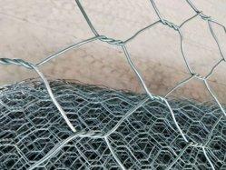 3.4mm 3.7mm PVCによって塗られる電流を通された編まれたGabionボックスGabionのバスケットのGabionの金網