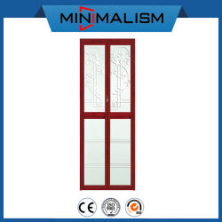 Insonorizadas/Aluminio resistente al agua / aluminio puerta plegable/Díptico de las pequeñas 2 paneles para armario