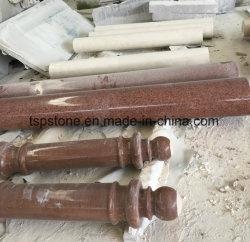 Настраиваемые натурального мрамора и гранита рулевой колонки/Роман рулевой колонки/рулевой колонки/камня средней стойки для сада украшения