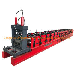 Vollautomatische kalter Stahl-Streifen-Profilc Purlin-Rolle, die Maschinerie bildet