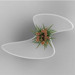 Y804 siège en fibre de verre & décoration Flowerpot Seating Président Pot de fleur de Pentecôte banc Président public extérieur