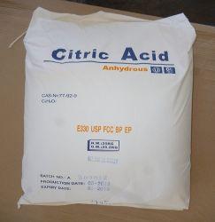 De grado alimentario de alta pureza Ttca ácido cítrico anhidro