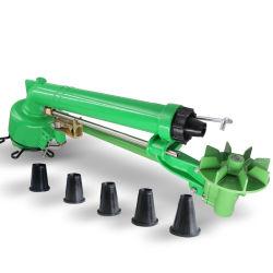 El óxido de metal verde de la prueba grande de rociadores de riego pistola lluvia