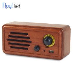 2020 Nouveau 20W rétro en bois massif de la lecture de la connexion téléphonique Lecteur MP3 radio FM de haut-parleur portable Bluetooth®