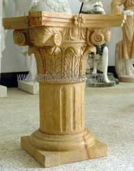 Pierre Romaine en marbre sculpté pilier dessins avec Collins PAC (QCM254)