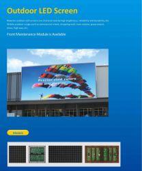 Для использования вне помещений фиксированные полноцветный светодиодный дисплей для отображения на экране рекламы P10/P12/P16/P20