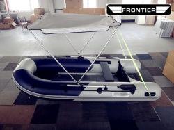 4 6 8 Personne plancher dur Drop Stitch-de-chaussée de sauvetage gonflables de gros de plancher en fibre de verre Sport Bateau avec moteur hors-bord