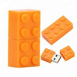주문 단단한 플라스틱 장난감 벽돌 16GB 8GB 32GB USB 섬광 드라이브
