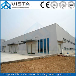 La industria prefabricados prefabricados modulares fabricadas por el taller de moderno diseño de edificios de efecto invernadero de almacén de metal ligero armazón de acero galvanizado de estructura de construcción