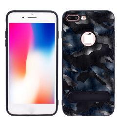 Cassa del telefono della pelle dell'inserimento del tessuto del camuffamento per il iPhone X