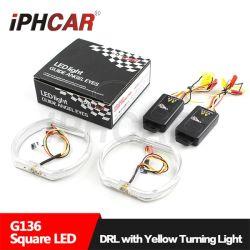 Iphcar double LED de couleur Angel Eye square BMW a conduit les anneaux de halo pour voitures de l'Ange de l'oeil objectif du projecteur à LED