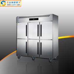 Frigorifero e congelatore profondi verticali dritti commerciali del refrigeratore del Governo dell'acciaio inossidabile