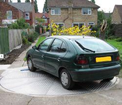 Platines de véhicule Prix Driveway voiture plaque tournante de garage
