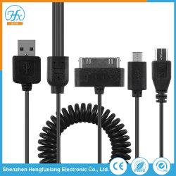 Настраиваемые 4 в 1 USB-кабель для мобильных телефонов зарядки аккумуляторной батареи