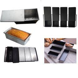 Salida de fábrica de la bandeja de hornear pan cuadrado con tapa/ tostadas caja con las tapas de cartón ondulado