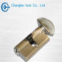 Profil de l'Euro en laiton avec le bouton de vérin de serrure de porte (CHB-L303)