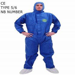 &Segurança de fornecimento de Protecção Contra Radiação descartáveis de vestuário de protecção tipo de fábrica 5/6 Cat 3 SMS descartáveis microporosa Vestuário de protecção para remoção de amianto