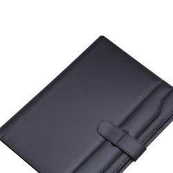 Kundenspezifisches Faltblatt-Geschäfts-Leder-Portefeuille der Darstellungs-A4 mit Rechner