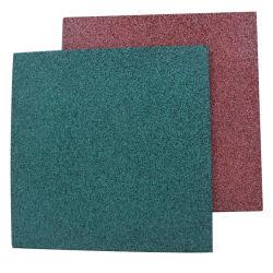 Kleurrijke rubberen asfalteermachine / Crossfit Gym vloermat, Playground Rubber Crumb Floor Tile