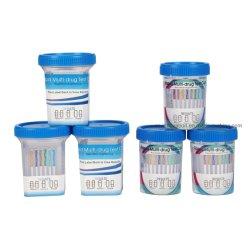 尿が付いているAMP/Ket/Coc/K2/Oxy/Fyl/K2/Thc/Mop/Mdmaのマルチ薬剤テストキット