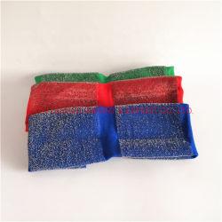 На блюдо промойте губки с абразивным покрытием материала для очистки губки тканью ткань