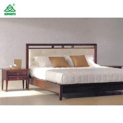 Mobilier de chambre King Size Définit / chambre à coucher Mobilier de bois dur solide pour l'hôtel Chambres