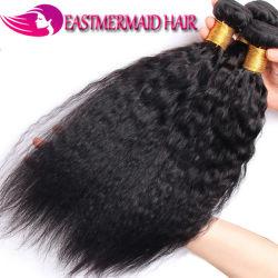 ブラジルのねじれた直毛の織り方は100%の人間のYaki Remyの毛を束ねる