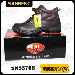 Sannengは蹄鉄を打つ全革Upper+Steelつま先の帽子(SN5576)が付いている安全ブートに
