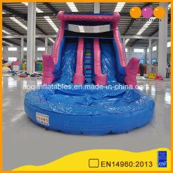 거대한 워터 파크 핑크 불팽창식 워터 슬라이드(AQ1011-3)