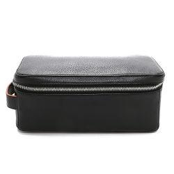 Классический подлинной соединяющей галечный кожаный чехол из натуральной кожи PU поездки мужчин набор туалетных принадлежностей подушки безопасности с помощью планки рукоятки