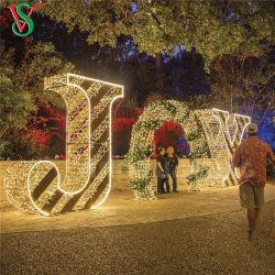 大きい屋外のクリスマスはライトLED喜びチャネルの印のモチーフに文字を入れる